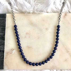 Lia Sophia Infinite me Necklace- Genuine Lapis